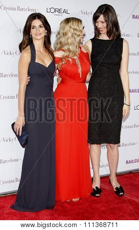 Penelope Cruz, Scarlett Johansson, and Rebecca Hall at the Los Angeles Premiere of
