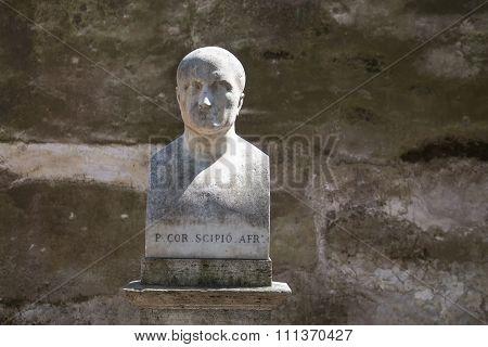 Statue Of Scipio Africanus In Rome, Italy
