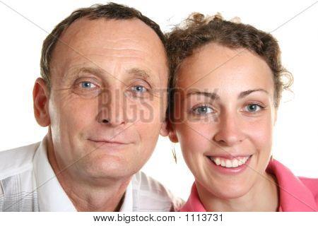 Mujer joven y su padre