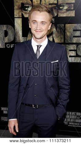 Tom Felton at the Los Angeles Premiere of