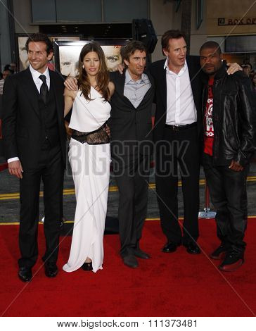 03/06/2010 - Hollywood - Bradley Cooper, Jessica Biel, Sharlto Copley, Liam Neeson and Quinton Jackson at the World premiere of