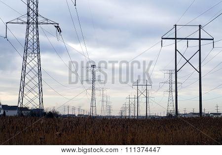 Suburban Power Lines