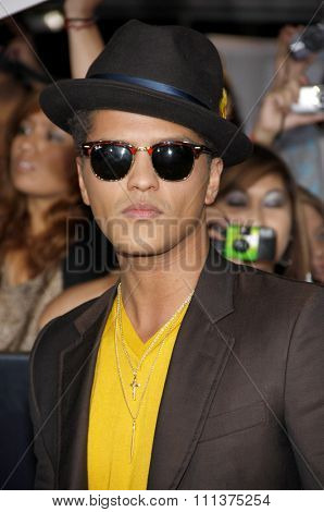 Bruno Mars at the World Premiere of