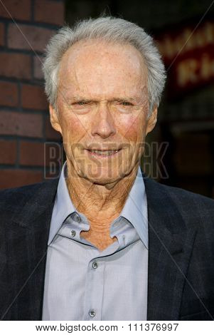 Clint Eastwood at the Los Angeles premiere of