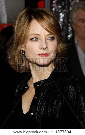 HOLLYWOOD, CALIFORNIA - Tuesday January 26, 2010. Jodie Foster at the Los Angeles premiere of