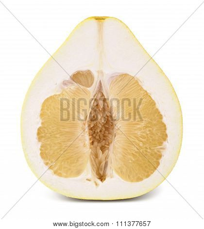 Half of pomelo fruit