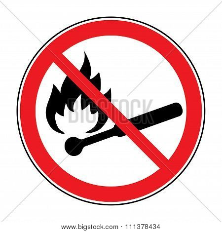 No Fire Sign