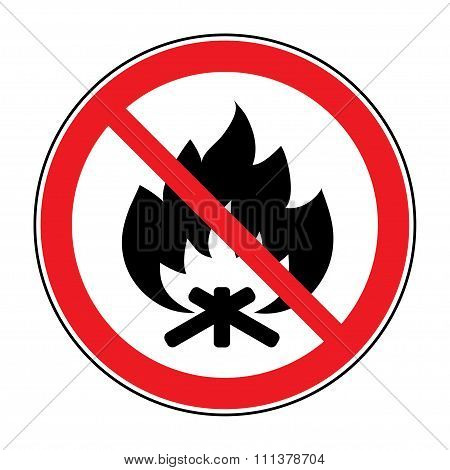 No Fire Bonfire Sign