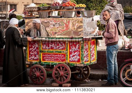 Tahrir Square Snack Stall