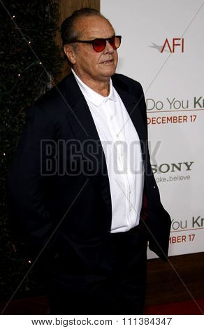 Jack Nicholson at the Los Angeles Premiere of