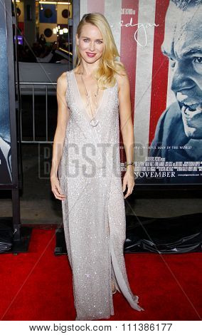 LOS ANGELES, USA - NOVEMBER 3: Naomi Watts at the AFI Fest 2011 Opening Night Gala World Premiere Of