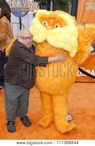 HOLLYWOOD, USA - FEBRUARY 19: Danny DeVito at the Los Angeles Premiere of