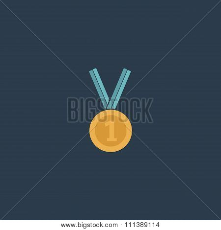 award medal icon with ribbon. vector eps10