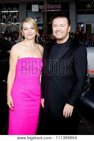 21/09/2009 - Hollywood - Ricky Gervais and Jane Fallon at the Los Angeles Premiere of