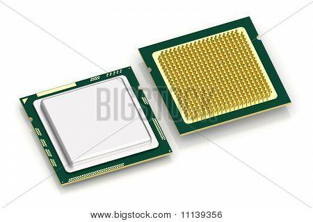 CPU-Prozessor auf weiß