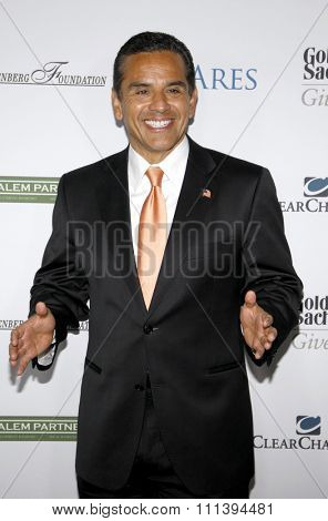 LOS ANGELES, USA - SEPTEMBER 27: Los Angeles Mayor Antonio Villaraigosa at the LA's Promise 2011 Gala held at the Kodak Theatre in Hollywood, USA on September 27, 2011.