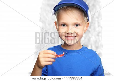 Orthodontics, little boy with braces