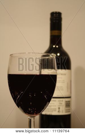 Red Wine with glass bottle