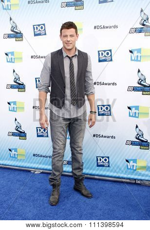 Cory Monteith at the 2012 Do Something Awards held at the Barker Hangar in Los Angeles, United States on August 19, 2012.