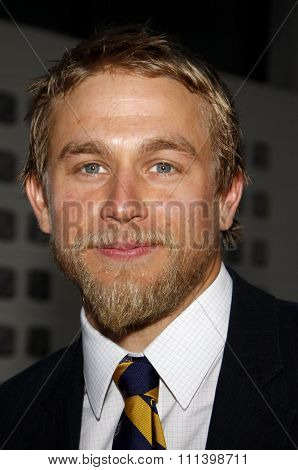 HOLLYWOOD, CALIFORNIA - Tuesday August 30, 2011. Charlie Hunnam at the Season 4 premiere of FX Network's