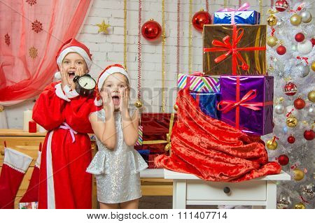 Santa Claus And Assistant Shocked By The Coming Of The New Year