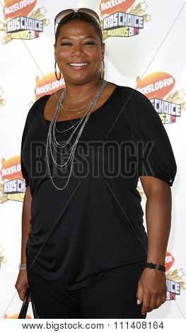Queen Latifah attends the Nickelodeon's 20th Annual Kids' Choice Awards held at the Pauley Pavilion - UCLA in Westwood, California on March 31, 2007.