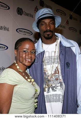 Snoop Dogg attends the 21st Annual Sports Spectacular held at the  Hyatt Regency Century Plaza in Century City, California on June 11, 2006.
