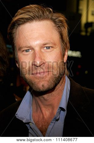 Aaron Eckhart attends the Los Angeles Premiere of