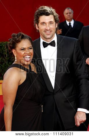Chandra Wilson and Patrick Dempsey at the 60th Primetime EMMY Awards held at the Nokia Theater in Los Angeles, California, United States on September 21, 2008.