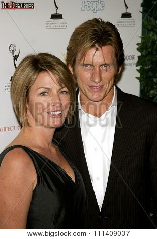 Denis Leary and wife Ann Lembeck attend 59th Primetime Emmy Awards Performer Nominee Reception held at the Pacific Design Center in West Hollywood, California, United States on September 14, 2007.