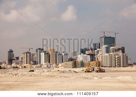 Skyline Of Manama City, Bahrain