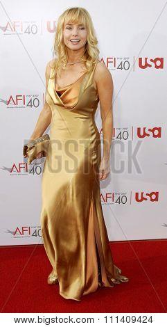 Rebecca De Mornay attends the 35th Annual AFI Life Achievement Award: a tribute to Al Pacino held at the Kodak Theatre in Hollywood, California on June 7, 2007.