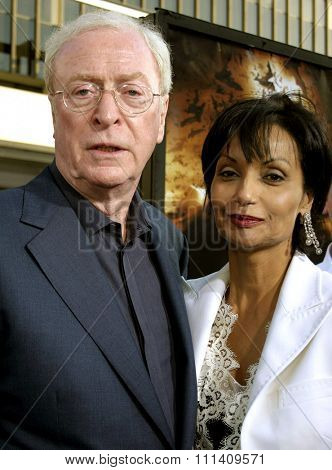 Sir Michael Caine and wife Shakira Caine attend the Los Angeles Premiere of