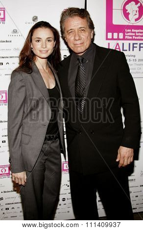 Mia Maestro and Edward James Olmos attend the LALIFF Screening of