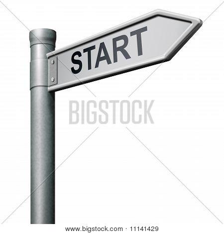 Road Sign Start