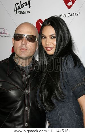 Evan Seinfeld and Tera Patrick attend the 3rd Annual MusiCares Map Fund Benefit Concert held at the Henry Fonda Music Box Theater in Hollywood, California, on May 11, 2007.