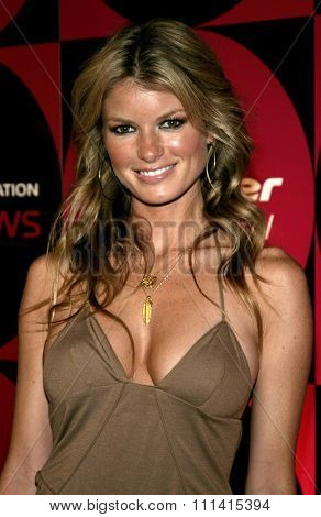 Marisa Miller attends the Pioneer Electronics Automotive Navigation Systems Launch Party held at the Montmartre Lounge in Hollywood, California, United States on April 21, 2005.