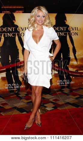 Pamela Anderson attends the World Premiere of