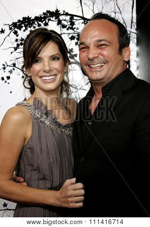 Sandra Bullock and Mennan Yapo attend the Los Angeles Premiere of