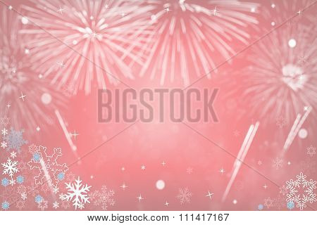 Christmas Background With Fireworks