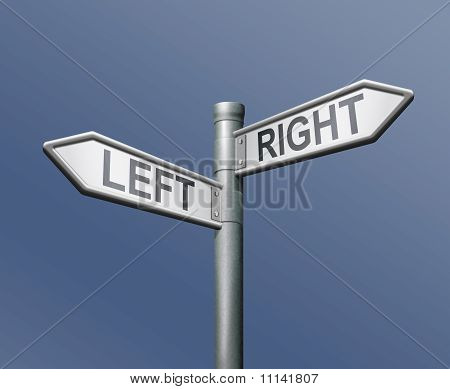 Road Sign Left Right Equal Choice