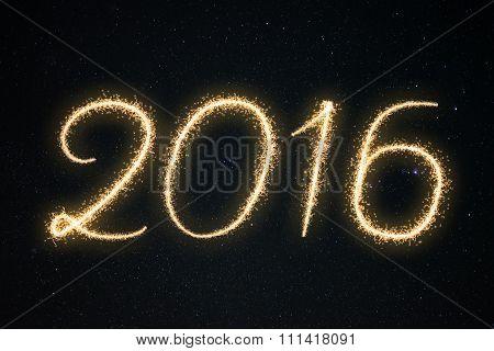 Sparkle Fireworks Text 2016