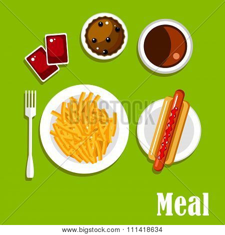 Fast food lunch meal menu design