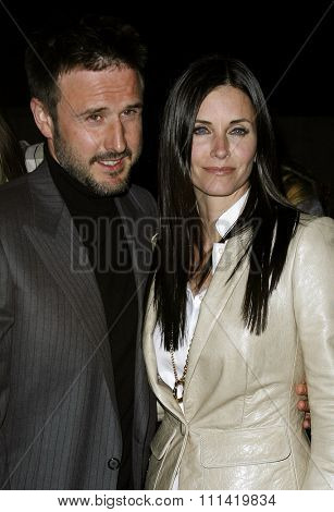 Courteney Cox Arquette and husband David Arquette attend the