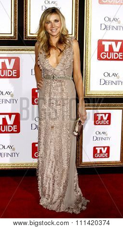 sarah Chalke attends the 5th Annual TV Guide's Emmy Awards Afterparty held at the Les Deux in Hollywood, California, United States on September 16, 2007.
