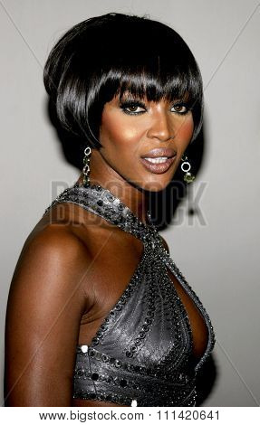 Naomi Campbell attends the Rodeo Drive Walk Of Style Award honoring Gianni and Donatella Versace held at the Beverly Hills City Hall in Beverly Hills, California on February 8, 2007.