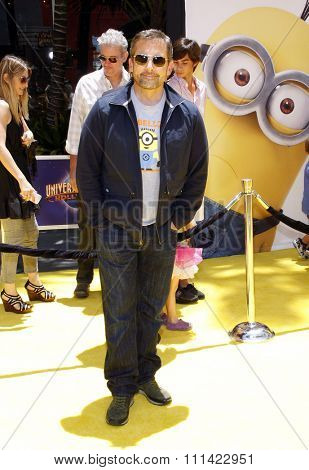 Steve Carell at the Los Angeles premiere of 'Despicable Me 2' held at the Universal Citywalk in Los Angeles, United States, 220613.
