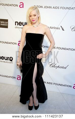 Rose McGowan at the 21st Annual Elton John AIDS Foundation Academy Awards Viewing Party held at the Pacific Design Center in Los Angeles, United States, 240213.