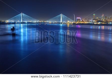 St. Louis Skyline With Bridges