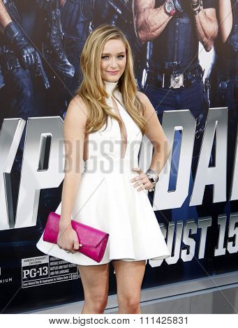 Greer Grammer at the Los Angeles premiere of